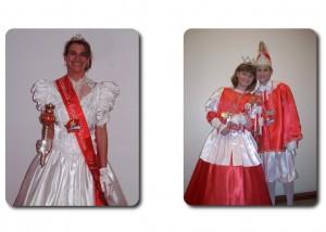 Prinzessin Annya I mit Kinderprinzessin Svenja I. und Kinderprinz Malte I.